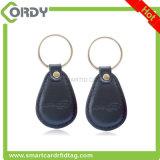 Het toegangsbeheer MF11RF08 RFID van het leer 13.56MHz keyfob