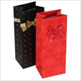 sacchetto di carta promozionale del vino personalizzato 128GSM