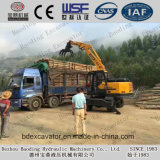 高品質のローディングか販売のための木またはサトウキビ機械車輪の掘削機を荷を下すこと
