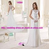 Bezauberndes A - Zeile Riemen-Schatz-Hochzeits-Kleid mit rundem Ausschnitt