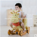 Balancim de balanço de madeira Multifunction do Animal-Giraffe com proteção