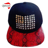 Chapeaux rouges de Snakeskin Sdudded Customed