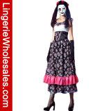 여자를 위한 죽은 Halloween 당 공상 Cosplay 복장 복장의 스페인 성모 수태 고지절