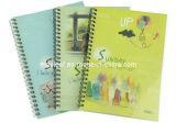 Tampon de mémoire d'agenda d'école de carnets de notes à spirale d'offre de papeterie de bureau avec le double fil