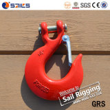 H331 Steel Drop Forged Galvanized Clevis Slip Hook avec Latch