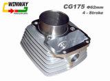 Pièce de la moto Ww-9142, cylindre de la moto Cg175