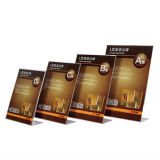Stand acrylique de support de menu d'étalage de Rerstaurant