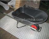Carretilla plástica de la bandeja (WB7801) con la maneta de acero de Squar