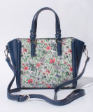 De hete Verkopende Handtassen van de Totalisator van de Bloemen Pu van Vrouwen Manier Afgedrukte (XR0384)