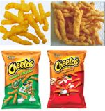 cheetos faisant la machine