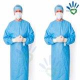 Tissu non-tissé non-tissé de pp SMS pour la robe chirurgicale, tissu d'exécution