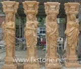 Stein geschnitzte römische Spalte mit Abbildungen (BJ-SCULPTURE0046)