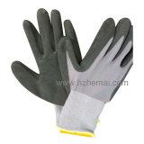 Перчатка работы 15 перчаток латекса пены перчаток датчика Nylon покрытая