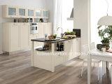 Vragen-010 de witte Moderne Hoge Stevige Houten Keukenkast van het Eind
