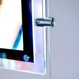 Cristal de acrílico LED que hace publicidad del rectángulo ligero delgado