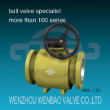 API Fully-Welded Trunnion Mounted Full Port Flanged Ball Valve