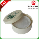 Caja de regalo de empaquetado del queso redondo del chocolate de madera natural del jabón