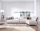 Muebles de la esquina seccionales del sofá de la nueva sala de estar de la tela de Eco