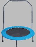 Mini Trampoline de dobramento da aptidão com corrimão