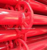 2.0m 빨강 마개를 가진 분말에 의하여 입히는 Ringlock 비계 수직 포스트 또는 기준