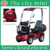 El coche eléctrico del ocio urbano redondo cuatro