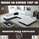 Sofá moderno do canto do couro da forma da mobília U para Austrália