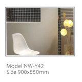 Miroir de salle de bain simple et moderne avec miroir de lumières LED