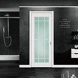 Clear View Light Isolated Glass Steel Door
