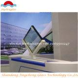Vidro de isolamento curvado com certificação de SGS/CCC/ISO para a parede do indicador/cortina