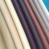Cuir bon marché de Faux de PVC de configuration de Lichee des prix pour la présidence de barre, sofas, bâti, couverture de portée de véhicule