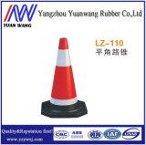 Cone colorido da borracha da segurança de estrada do tráfego