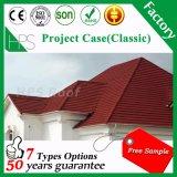 Carrelage en pierre Revêtement de toit en métal Revêtement de toit en acier Matériau de toiture Matériau de construction de carreaux de pierre