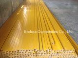Tubo del cuadrado de la fibra de vidrio de la barandilla de FRP/GRP, tubo de la extrusión por estirado/Anti-ULTRAVIOLETA
