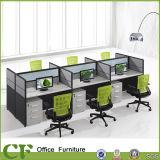 6 Seaters Büro-Möbel-Baugruppen-Büro-Arbeitsplatz-Schreibtisch mit Bildschirm