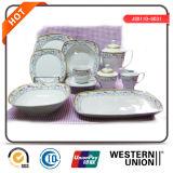 vaisselle en céramique de la forme 47PCS carrée