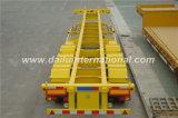 3-Axle Gooseneck 40 ' ft/20FT Behälter-Transport-Skelett/skelettartiger halb Schlussteil-Sattelschlepper