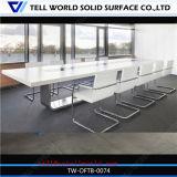 現代デザイン人工的な大理石のアクリルの固体表面の石造りのCorianの白い会議の席の椅子