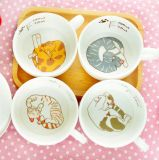 Caneca de café cerâmica do estilo bonito do gato com Sublimation