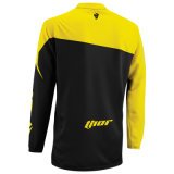 Желтый мотоцикл тенниски вездеходного Riding цвета участвуя в гонке Джерси (MAT59)