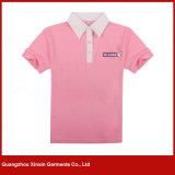 T-shirt feitos sob encomenda do esporte do colar do polo com projeto do bordado (P16)