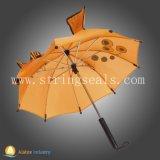Parapluie ouvert de dessin animé d'automobile pour des enfants