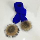 Reeks van de Sjaal van de Dekking van de Tik van de Handschoenen van de Hoed POM Beanie van het Bont POM van de Winter van de Dames van de Jongens van de Meisjes van de Kinderen van vrouwen de Unisex-3PC Echte Lange (SK122S)