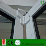 Guichet se pliant de profil en aluminium de matériau de construction avec la glace