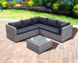Sofa à la maison en aluminium en osier plat de Kd d'hôtel d'Offce de jardin extérieur moderne de patio (J721KD)