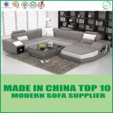 Mobília de canto moderna do sofá da forma do couro U
