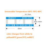 온도 열 과민한 색깔 변화 스티커