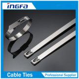 Fascette ferma-cavo autobloccanti dell'acciaio inossidabile del campione libero con il rivestimento 7.9X800mm