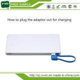 La Banca di potere con l'adattatore di iPhone del cavo dell'uscita & dell'input, azionamento dell'istantaneo del USB di OTG