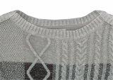 Suéter de la manera de la funda larga de moda del diseño de las señoras que hace punto