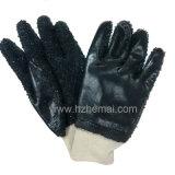 PVC釣ポテト皮の手袋の安全産業作業手袋